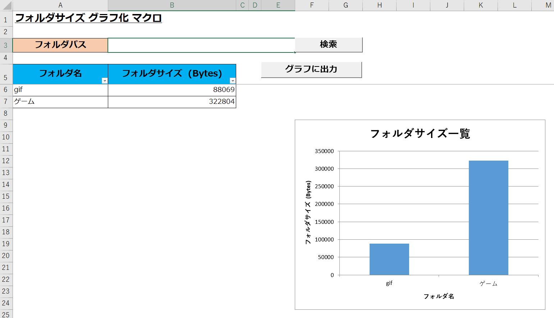 Excel マクロでフォルダサイズをグラフ化!【Excel Vba】