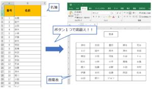 【Excel vba】名簿から自動で席替えしてくれるマクロの作り方!!